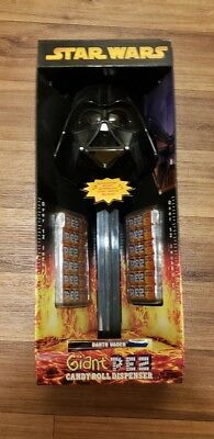 Star Wars Darth Vader Giant Pez Candy Roll Dispenser with Sound NEW