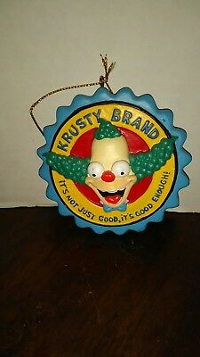 The Simpsons Krusty Brand Clown Ceramic Ornament 2005 Rare Good Enough