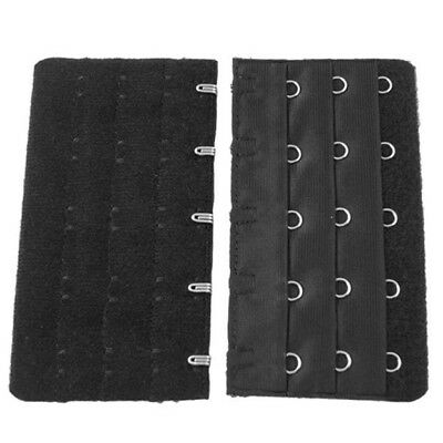 Black 5 Rows Hook and Eye Tape Extension Bra Strap Extender 5 Pcs for Women P JV
