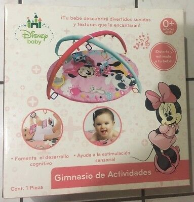 Disney Baby Minnie Mouse Activity Gym Girl Pink Floor Play Mat NEW