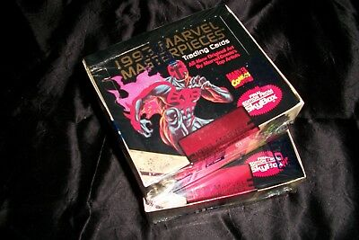 """1993 Marvel Masterpieces Cards Lot of 2  """"Case Break""""  Factory Sealed Wax Boxes"""