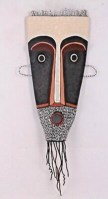 Mexican Ceramic Hanging Mask Folk Art Hand Formed/Painted Jose Ayala Sotelo #3