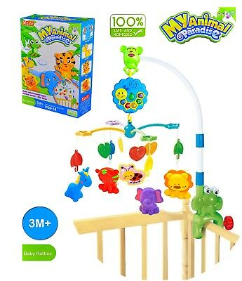 Baby Musical Mobile, Nursery Lights, for Bed Crib Cot 3+M for Boy & Girl