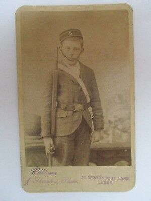 CDV Photo Military Soldier Young Boy by Wilkinson & Thornton, Leeds