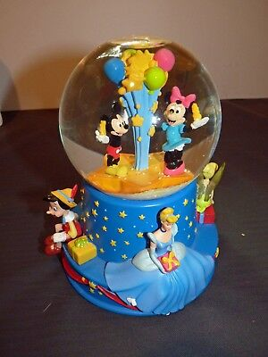 Disney Musical Birthday Water Globe Mickey Mouse & Friends