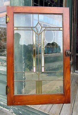 Arts And Crafts Stained Glass Cabinet Door
