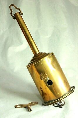 Vintage Brass Meat Spit Jack Salters Economical Warrented Early 20th Century