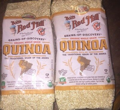 Bob's Red Mill Organic Whole Grain Quinoa 20 OZ (2 packages)