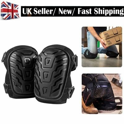 2X Gel Filled Pro Knee Pads Protectors Safety Quick Release Work Trade Black NEW