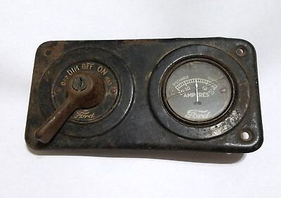 Ford Model T battery gauge/bezel/switch