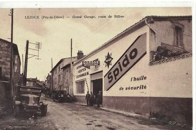 CPA   (63)  LEZOUX  Grand Garage SPIDO Route de Billom