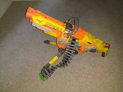 Nerf Havok Fire Vulcan Ebf-25 Elite Gun+ Tripod + Ammo Belt
