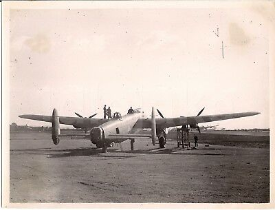 WW2 RCAF Canadian Avro Lancaster Aircraft 1940s Wartime Photo with Bullet Holes