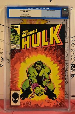 Incredible Hulk #307 CGC 9.6 NM+ low population 1:28 graded - old blue label