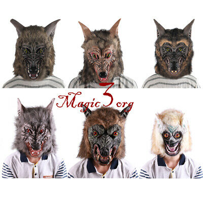 Novelty & Gag Toys Gags & Practical Jokes Novelty Toys Werewolf Wolf Mask Masquerade Cosplay Props Movie Theme Halloween Party Wolf Mask Supplies