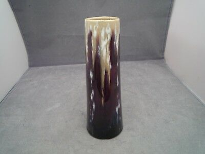 French Studio/art Pottery Drip Glaze Vase Signed Base 6 1/2 Inch High