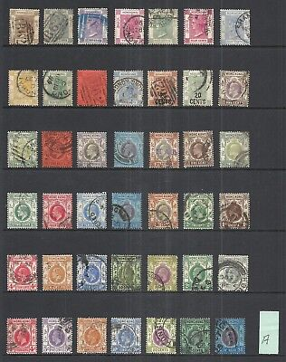 HONG KONG  VARIOUS USED ISSUES (A)   1863 to 1937     CATALOG $106.15