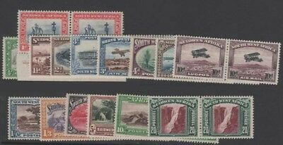 SOUTH-WEST AFRICA KGV Scott 108-120 SG74-87+96 Never Hinged