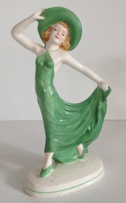 Vintage Royal Trico Art Deco Lady Dancer Figurine Porcelain Antique 1920s 30s