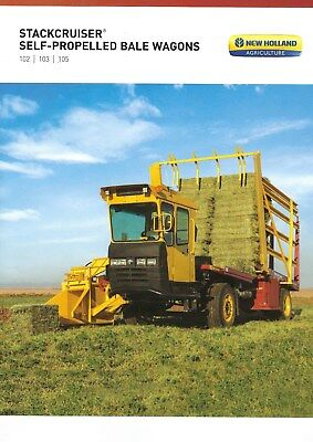 New Holland Stackcruiser Series Self Propelled Bale Wagons Sales Brochure - 2017
