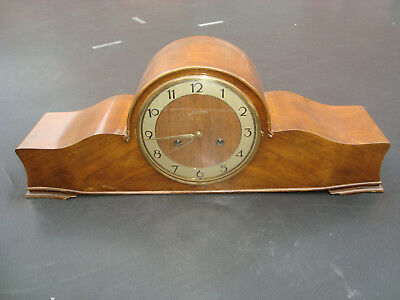 Fine Long Art Deco Chiming Mantel Clock From Junghans