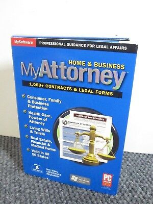NEW My Attorney PC Software 1,000+ Contracts, Legal Forms, Business Documents