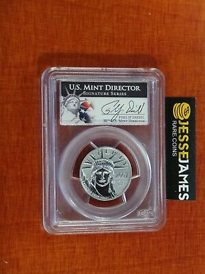 2007 W $50 Reverse Proof Platinum Eagle Pcgs Pr69 From 10Th Anniversary Set