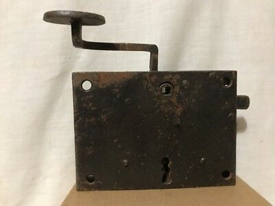 Antique Large Metal Door Lock Latch For Skeleton Key Hand Forged Dead Bolt