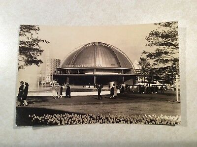 1939 New York Worlds Fair Post Card,  US Steel Building photo