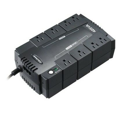 Surge Protector Power Supply Battery Backup 8-Outlets Computer Uninterruptible
