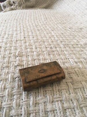Vintage Or Antique Book Shaped Wooden Treen Small Box Pill Box