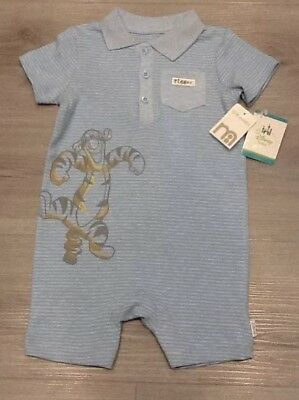 397744358ef1 MOTHERCARE DISNEY BABY Boys Tigger Romper Suit New With Tags Size 12 ...