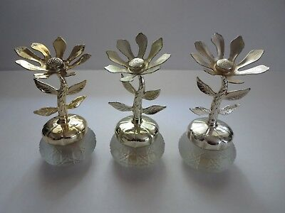 "Vintage Avon Canada ""keepsakes"" 5"" Fieldflowers Cream Sachet Lot Of 3 Jars"