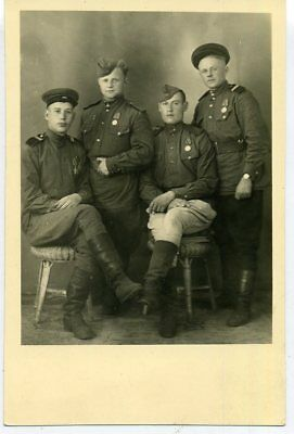 1945 WW2 Red Army RKKA Soldiers Sergeants Orders Medals Germany Russian photo