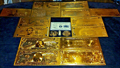 (☆)HUGE 22Pc.LOT~US& World COINS/FOSSIL/ GOLD Banknote Set, SILVER Shot/CHARM ☆