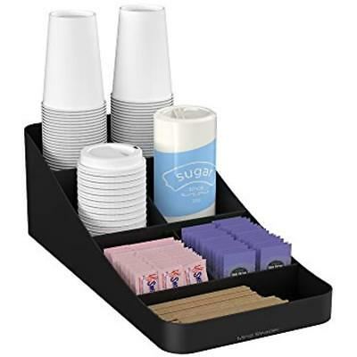Mind Reader 7 Compartment Coffee Condiment, Cups, Lids, Sugars, Stirrers,Storage