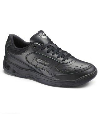 GOLA Mens Black Lace Up Leather Walking Running Trainers UK Size 13 14 15