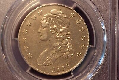 1836 Capped Bust Half ~ Pcgs Xf Details Cleaned