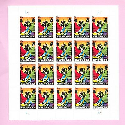 KWANZAA - US STAMP SHEETS  20 x FOREVER STAMPS - SC# 4584 MINT