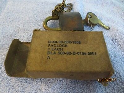 Vintage American Lock Co. Brass Padlock in original box - with 2 keys