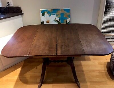 1900's Duncan Phyfe Antique  Drop Leaf Dining Table Console Sofa Vintage