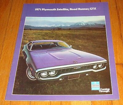 original 1971 plymouth satellite road runner gtx sales brochure