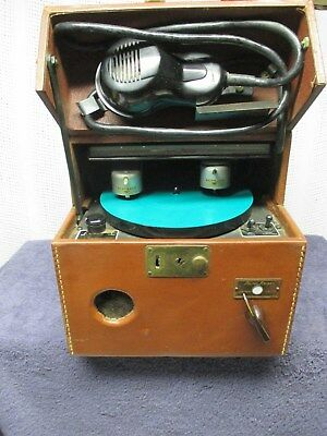 Vintage Dictaphone Sound Scriber & Microphone Complete With Disc Sets