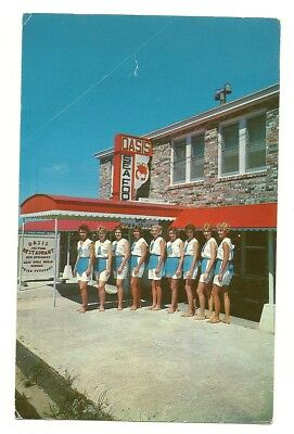 1962 Nags Head Nc View Of Oasis Seafood Restaurant - Barefoot College Waitresses