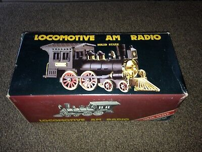 Vintage 1828 Locomotive Replica AM Radio Solid State Model # 338 OB