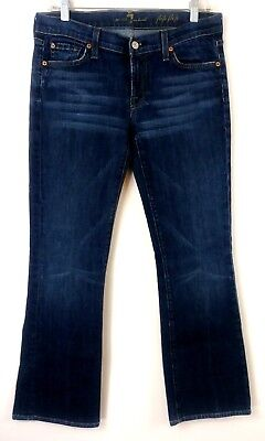 7 For All Mankind Womens Jeans Size 29 Flip Flop Bootcut Dark Wash Stretch 31x29