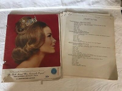 VTG 1966 Miss Kannapolis Pageant Rowan Cabarrus County Miss America Pageant