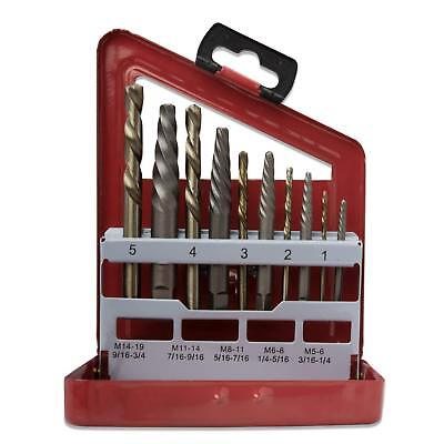 Neiko 01925A Screw Extractor and Left Hand Drill Bit Set, 10 Piece | Alloy | HSS
