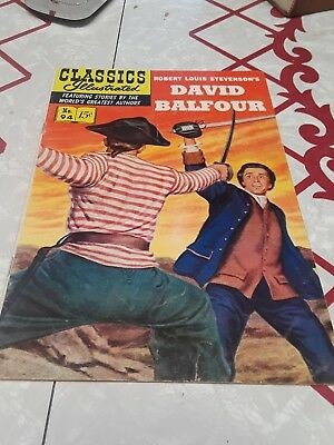 Classics Illustrated #94 HRN 94  DAVID BALFOUR COVER ATTACHED