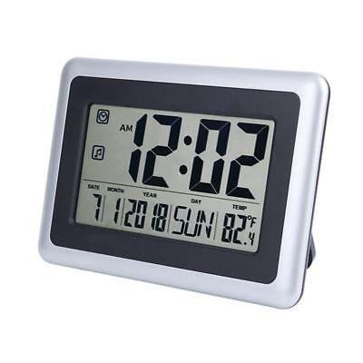 "OCEST Digital Alarm Wall Clock Large Display 7.5"" LCD Screen with Date Time Set"